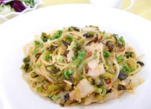 辛子高菜の和風スパゲティ